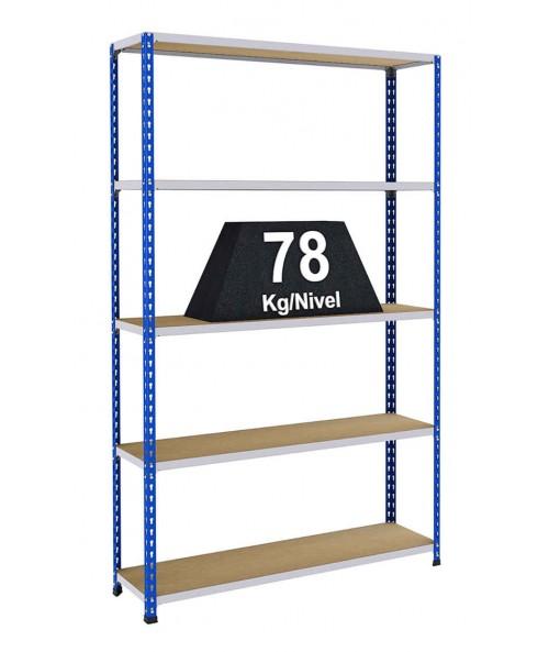 Estanter as riveto 100 estanter as met licas para cargas - Estanterias metalicas sin tornillos ...