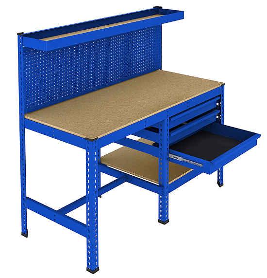 Mesas y bancos de trabajo noega shop - Mesa de trabajo metalica ...